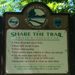 Apple Capital Loop Trail Sign